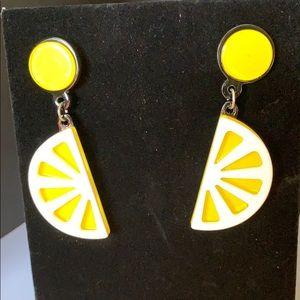 Lucious Lemon Slice Earrings